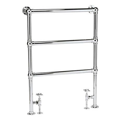 Bayswater Juliet Floor Mounted Heated Towel Rail 966 x 673mm