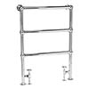 Bayswater Juliet Floor Mounted Heated Towel Rail 966 x 673mm profile small image view 1