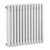 Bayswater Nelson White Triple Column Radiator 600 x 606mm profile small image view 1