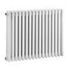 Bayswater Nelson White Triple Column Radiator 600 x 786mm profile small image view 1