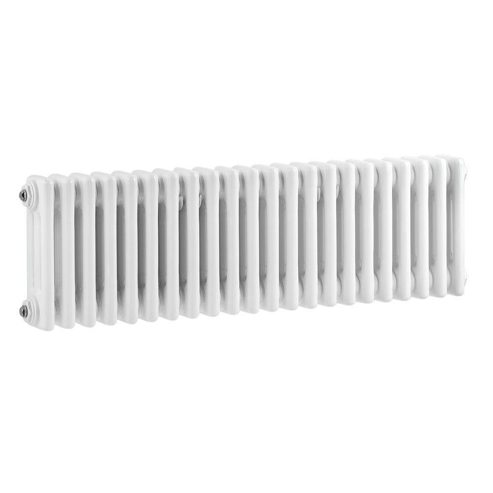 Bayswater Nelson White Triple Column Radiator 300 x 1011mm