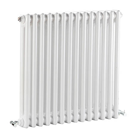 Bayswater Nelson White Double Column Radiator 600 x 650mm