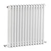 Bayswater Nelson White Double Column Radiator 600 x 650mm profile small image view 1