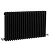 Bayswater Nelson Black Triple Column Radiator 600 x 1011mm profile small image view 1