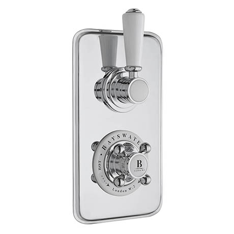 Bayswater White Twin Concealed Thermostatic Shower Valve