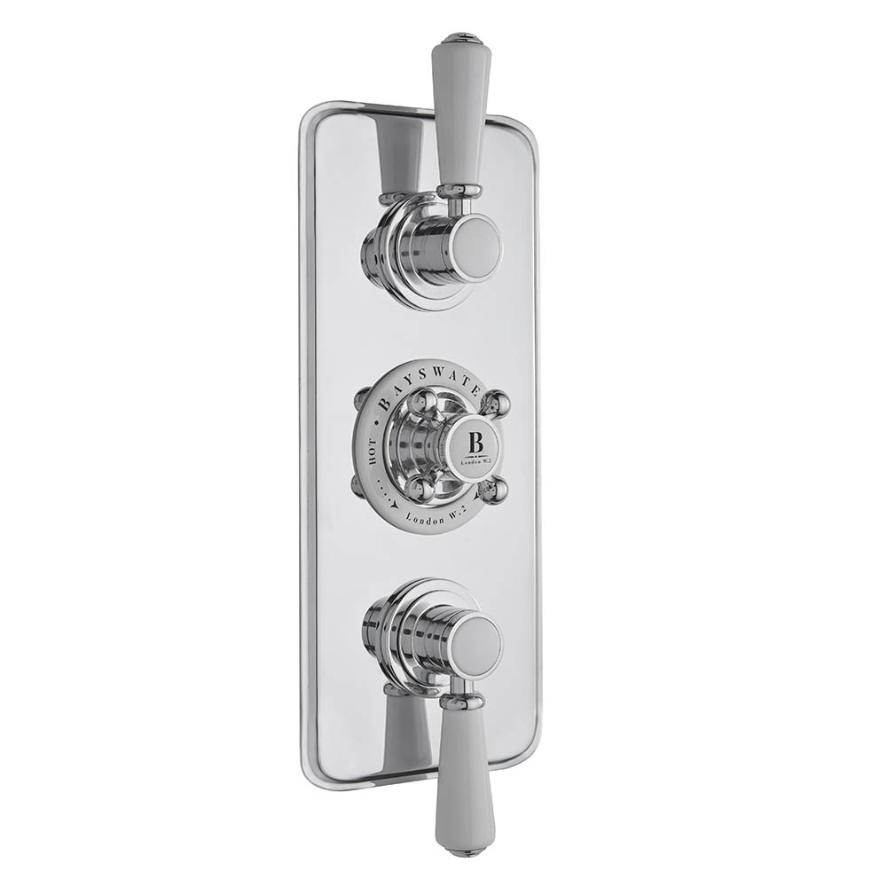 Bayswater White Triple Concealed Thermostatic Shower Valve