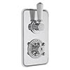 Bayswater White Twin Concealed Thermostatic Shower Valve with Diverter profile small image view 1