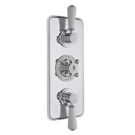Bayswater White Triple Concealed Thermostatic Shower Valve with Diverter