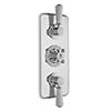Bayswater White Triple Concealed Thermostatic Shower Valve with Diverter profile small image view 1