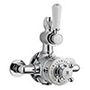 Bayswater White Twin Exposed Thermostatic Shower Valve profile small image view 1