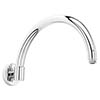 Bayswater Wall Mounted Curved Shower Arm profile small image view 1