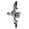 Bayswater Black Triple Exposed Thermostatic Shower Valve profile small image view 1