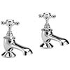 Bayswater White Crosshead Traditional Bath Taps Medium Image