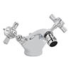 Bayswater White Crosshead Mono Bidet Mixer + Pop-Up Waste Medium Image
