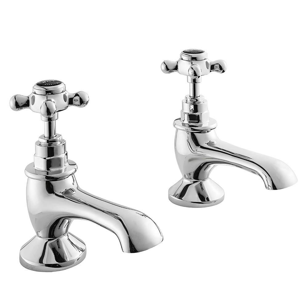 Bayswater Black Crosshead Traditional Bath Taps