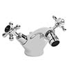 Bayswater Black Crosshead Domed Collar Mono Bidet Mixer + Pop-Up Waste profile small image view 1