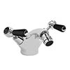 Bayswater Black Lever Domed Collar Mono Bidet Mixer + Pop-Up Waste Medium Image