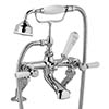 Bayswater White Lever Deck Mounted Bath Shower Mixer profile small image view 1