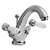 Bayswater White Lever Mono Basin Mixer + Pop-Up Waste profile small image view 1