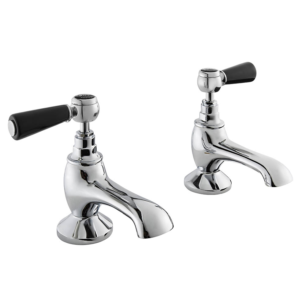 Bayswater Black Lever Traditional Bath Taps