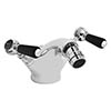 Bayswater Black Lever Mono Bidet Mixer + Pop-Up Waste profile small image view 1