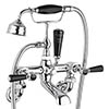 Bayswater Black Lever Wall Mounted Bath Shower Mixer profile small image view 1