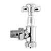 Bayswater Chrome Angled Victorian Crosshead Radiator Valves profile small image view 1