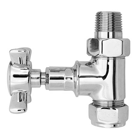 Bayswater Chrome Straight Victorian Crosshead Radiator Valves
