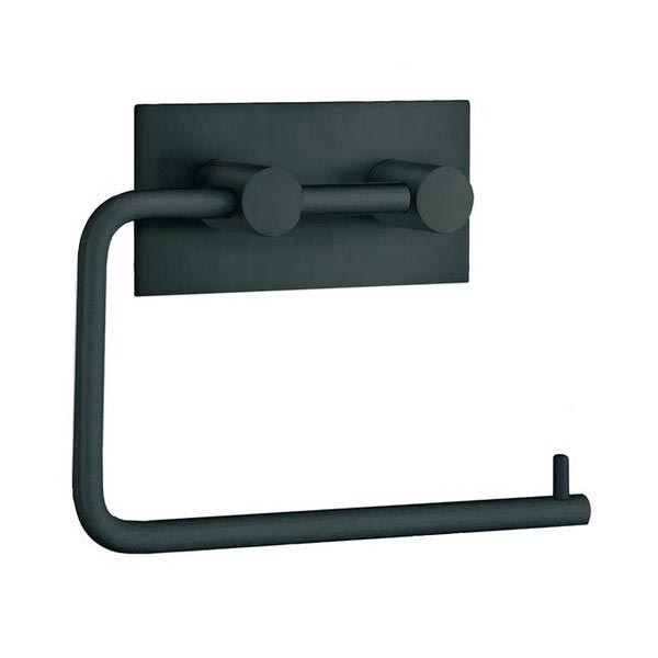 Smedbo Beslagsboden Wall Mounted Toilet Paper Holder - Black Matt - BB1098 profile large image view 1