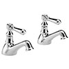 Hudson Reed Jade Lever Bath Taps - Chrome - BB302 profile small image view 1