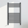 Brooklyn 800 x 500mm Black Nickel Straight Heated Towel Rail profile small image view 1