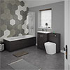 Brooklyn Black Vanity Bathroom Suite profile small image view 1