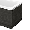 Brooklyn Black Wood Effect End Bath Panels - Various Sizes profile small image view 1