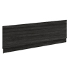 Brooklyn Black Wood Effect Bath Panel - Various Sizes profile small image view 1