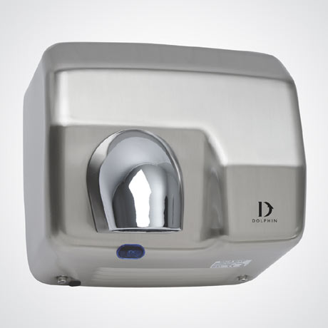 Dolphin - Surface Mounted Infrared Hand Dryer - Satin Chrome - BC230C