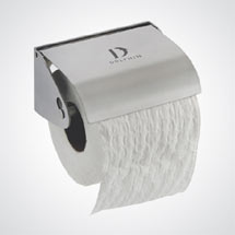 Dolphin - Stainless Steel Toilet Roll Holder - Single Roll - BC266 Medium Image