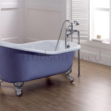 Hudson Reed Topaz Freestanding Bath Shower Mixer - Chrome profile large image view 2