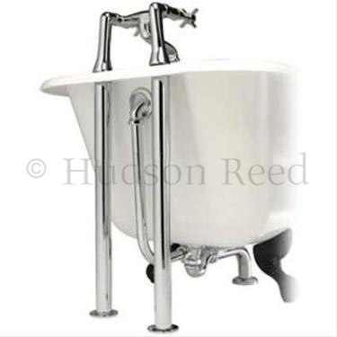 Hudson Reed Topaz Bath Shower Mixer with Extended Leg Set - Chrome Feature Large Image