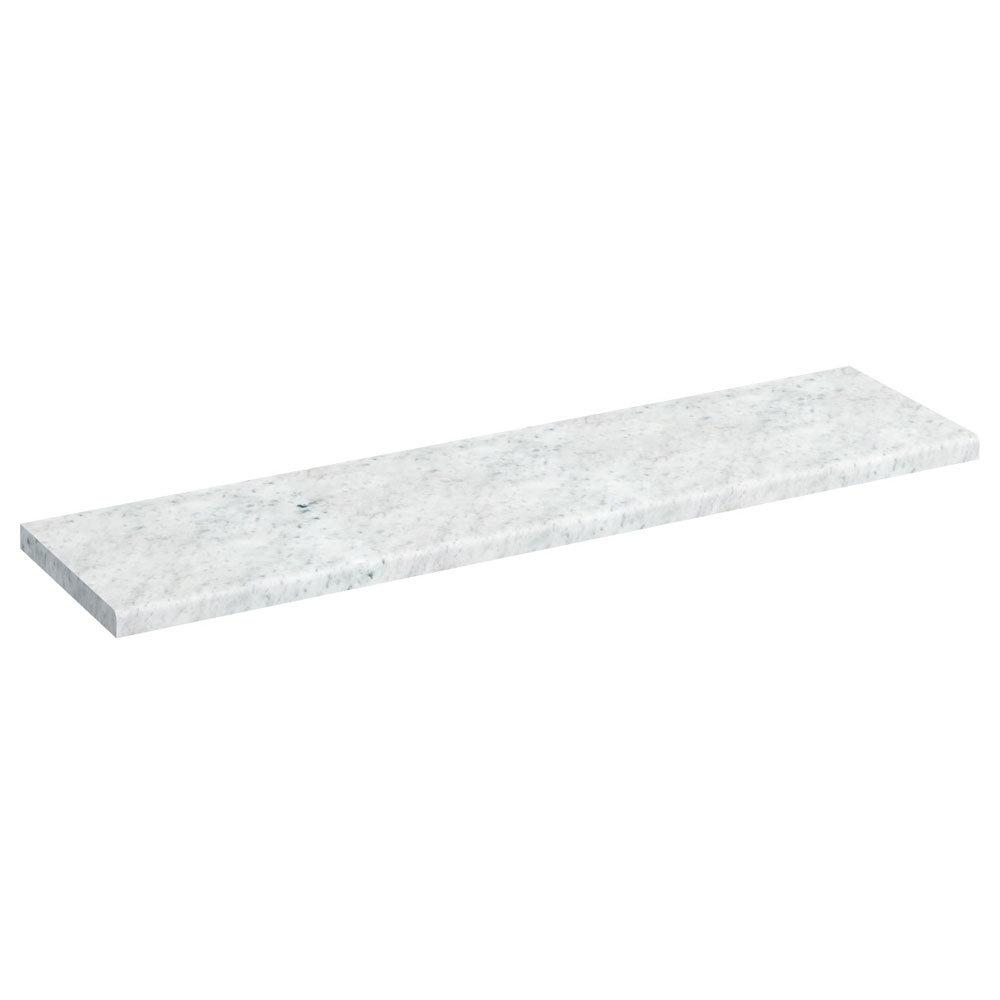Burlington 120cm Minerva Worktop - Carrara White Large Image