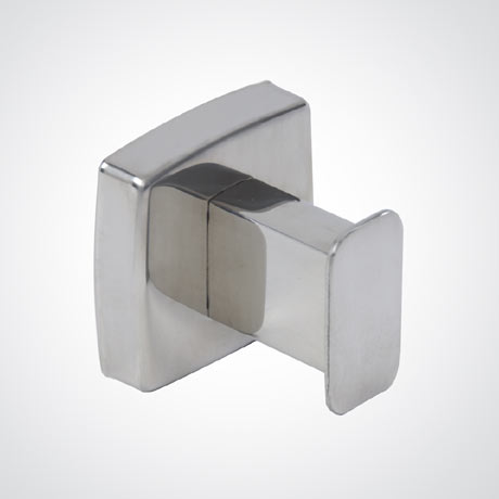 Dolphin - Washroom Squared Stainless Steel Robe Hook - BC401