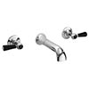 Hudson Reed Topaz Black Lever Wall Mounted Bath Spout and Stop Taps - Chrome profile small image view 1