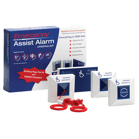 Dolphin White Plastic Disabled Alarm System with Pull Cord