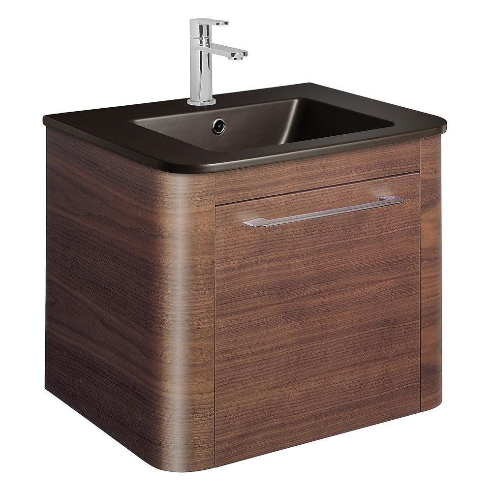 Bauhaus - Celeste Vanity Unit with Plus+Ton Basin - American Walnut - 3 Size Options Large Image