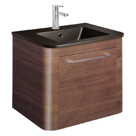 Bauhaus - Celeste Vanity Unit with Plus+Ton Basin - American Walnut - 3 Size Options