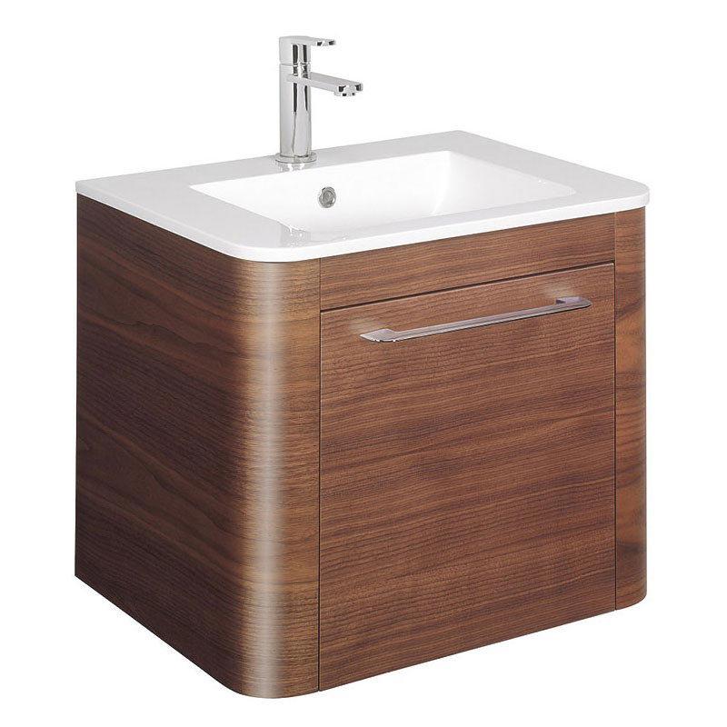 Bauhaus Celeste Vanity Unit with Basin - American Walnut Large Image