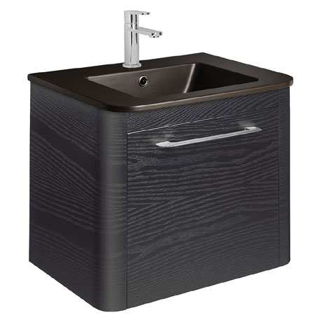 Bauhaus - Celeste Vanity Unit with Plus+Ton Basin - Black Ash - 3 Size Options