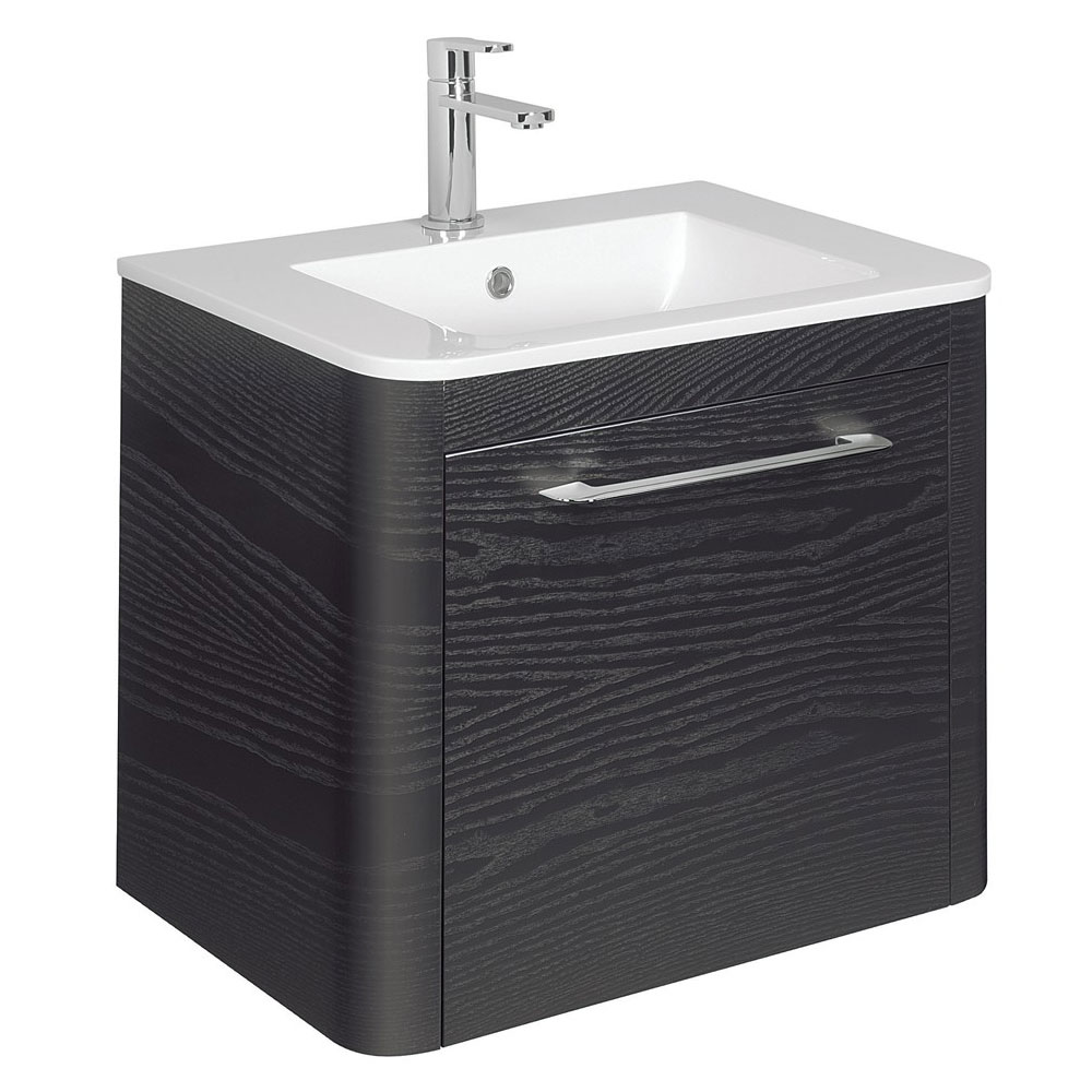 Bauhaus Celeste Vanity Unit with Basin - Black Ash profile large image view 1
