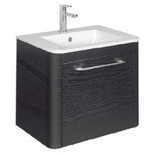 Bauhaus Celeste Vanity Unit with Basin - Black Ash Medium Image
