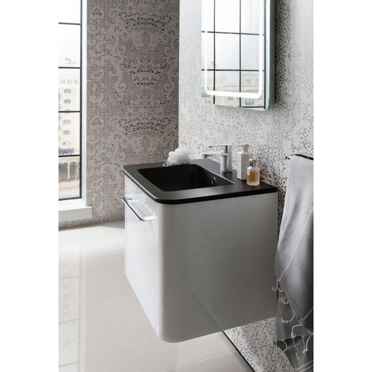 Bauhaus Celeste Vanity Unit with Plus+Ton Basin - Pebble Feature Large Image