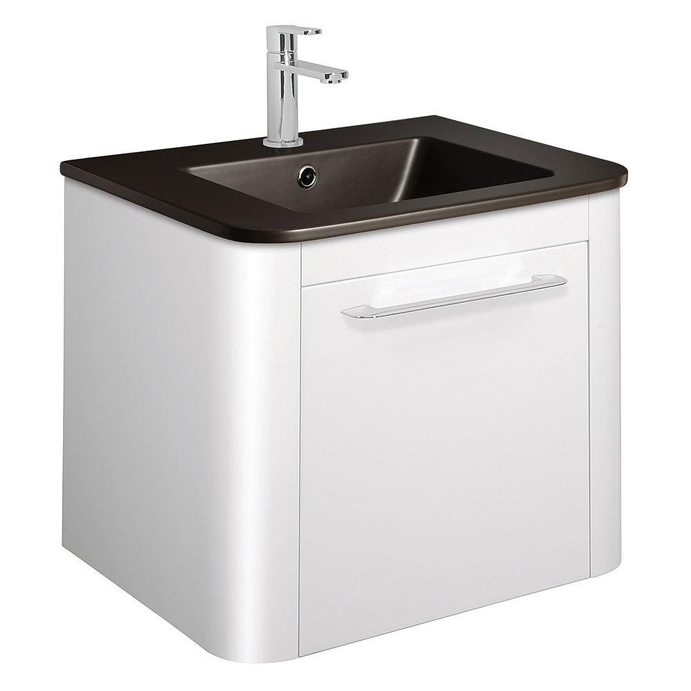 Bauhaus - Celeste Vanity Unit with Plus+Ton Basin - White Gloss - 3 Size Options Large Image